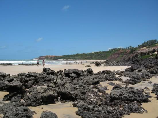 Pedras de corais e piscinas naturais