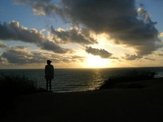 Por do sol na praia do amor
