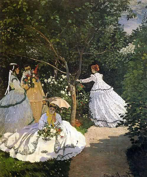 Mulheres no jardim (1866)