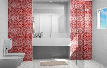 Revestimento de banheiro super criativo
