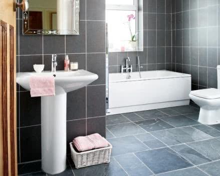 Banheiro revestido