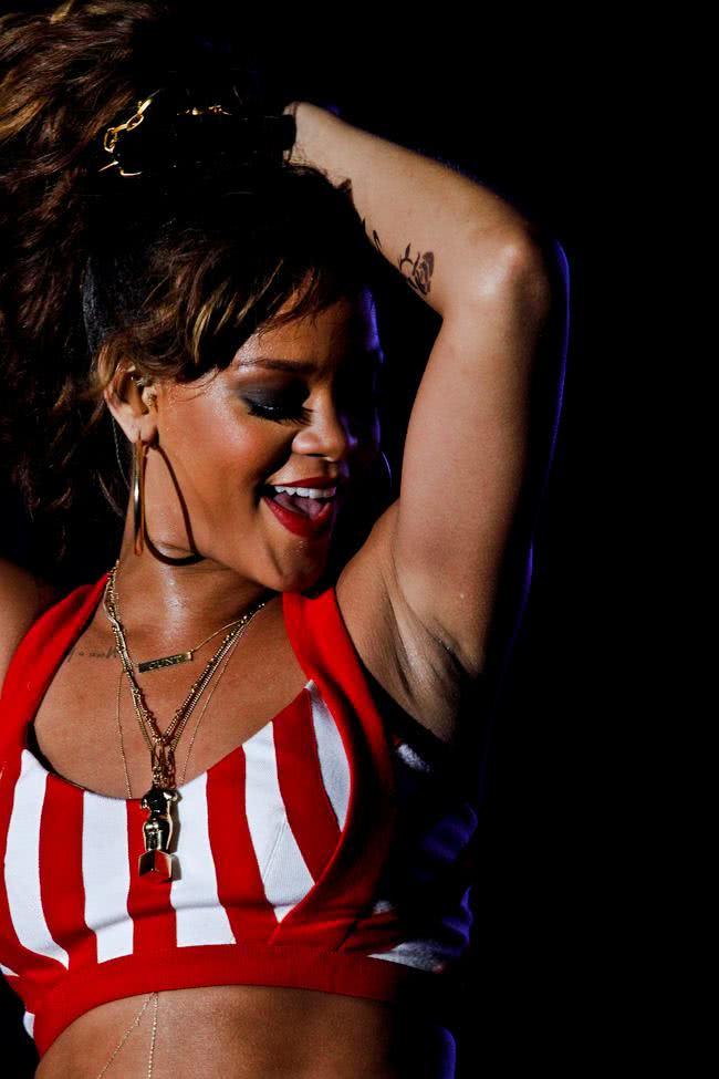 Rihanna no Rock in Rio do Brasil em 2011