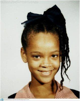 Rihanna quando criança