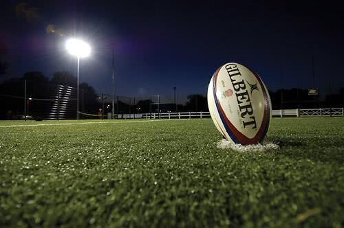 A bola de Rugby