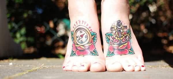 Fotos de tatuagens de âncora