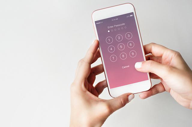 Colocando senha em celular