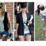 Short Jeans com bolso pra fora
