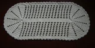 Tapete de barbante feito em crochê – fotos de gráficos