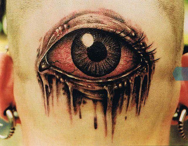 Tatuagem de olho, super estranha