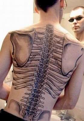 Tattoo do esqueleto humano
