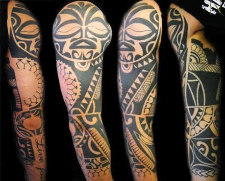 Desenhos Maori no braço