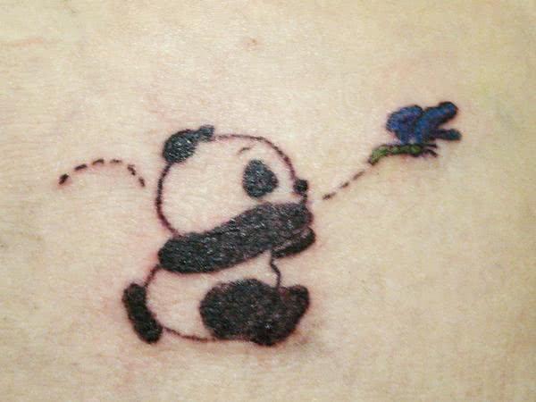 Desenho de urso panda