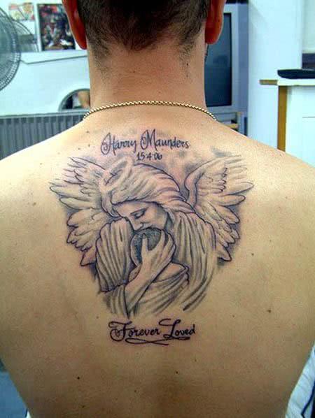 Tattoo de anjo - proteção divina