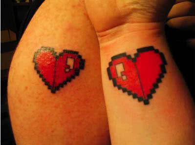 Coração pixelizado