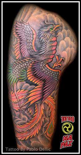 tatuagem-de-fenix-colorida