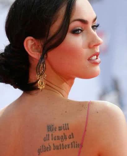Tatuagem da atriz Megan Fox