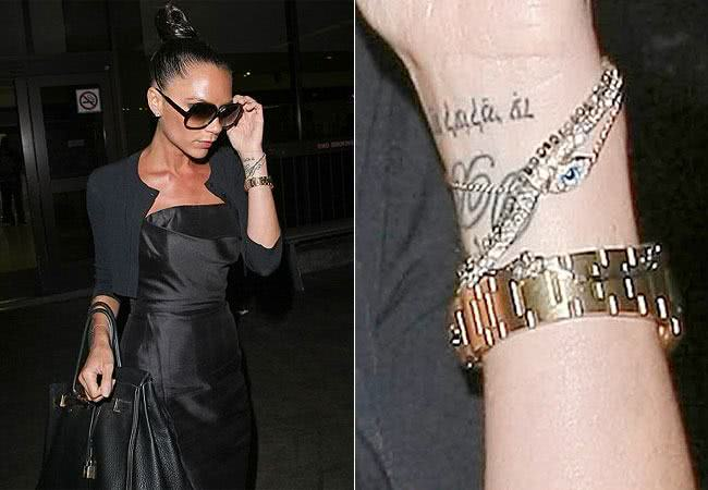 Tattoo no pulso da Victória Beckham