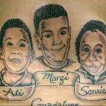 Tatuagens em homenagem aos filhos