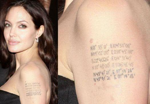 Tatuagem - Angelina Jolie