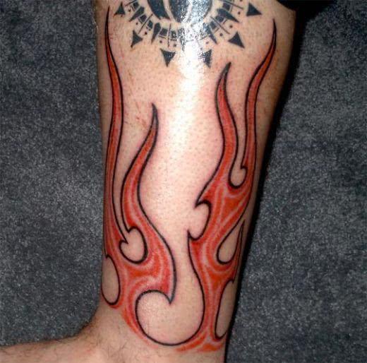 Tattoo de fogo