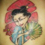Belas fotos de tatuagens de gueixas