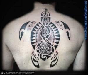 Tatuagem de tartaruga maori