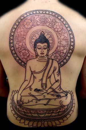 Tatuagem de Buda meditando