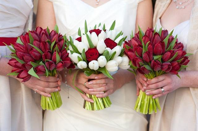 Buquês de tulipas