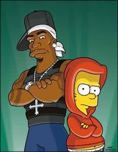 Bart Simpson hoje, 50 Cent amanhã