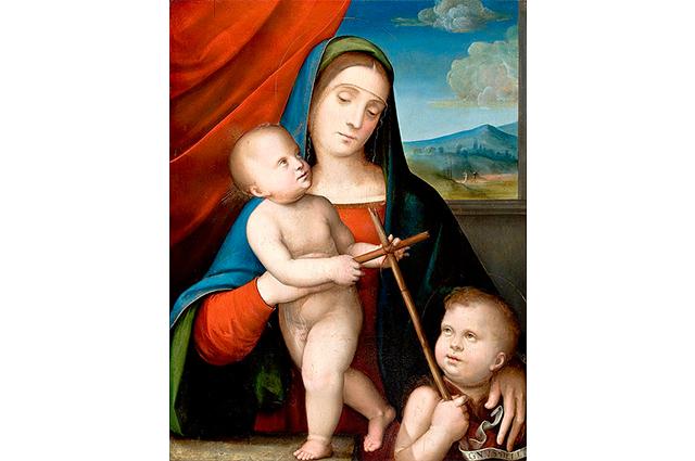 Esta imagem de Nossa Senhora com Jesus foi pintada em 1450