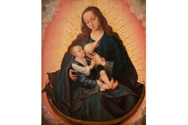 Foto de Nossa Senhora La Virgen de la Leche retrata o bebê de forma natural com sua mãe